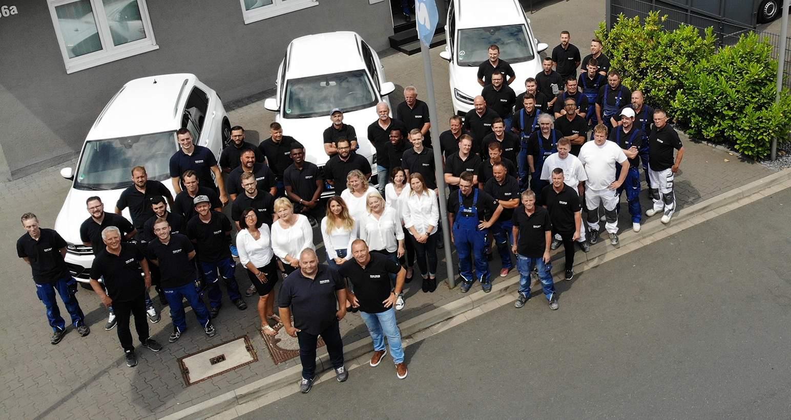 Das Team von Peter Barth Wuppertal aus der Luft