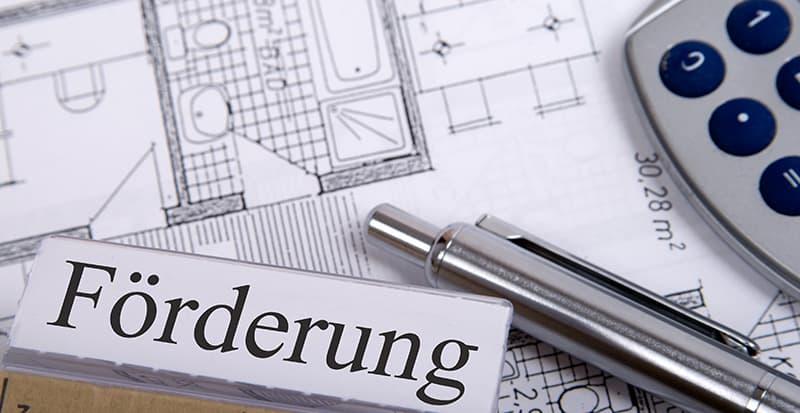 Ein Antrag auf Förderung eines Bauprojektes