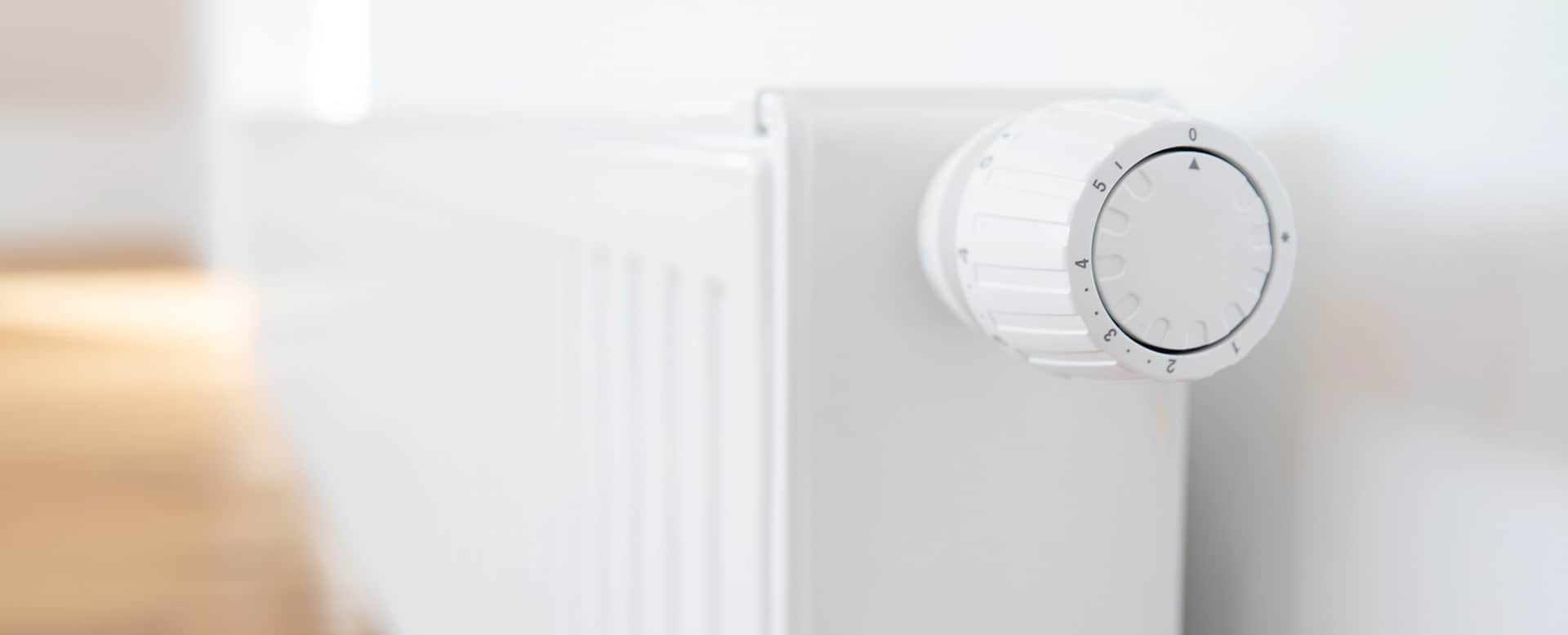 Heizkörper und Thermostat