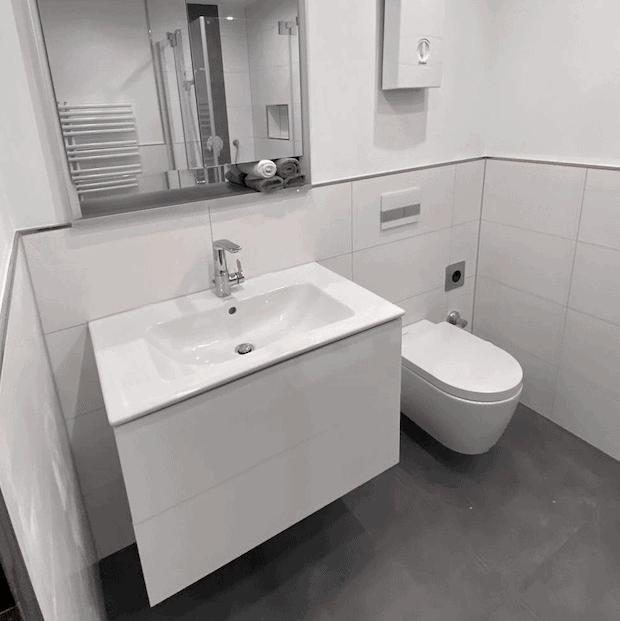 Moderne Badausstattung